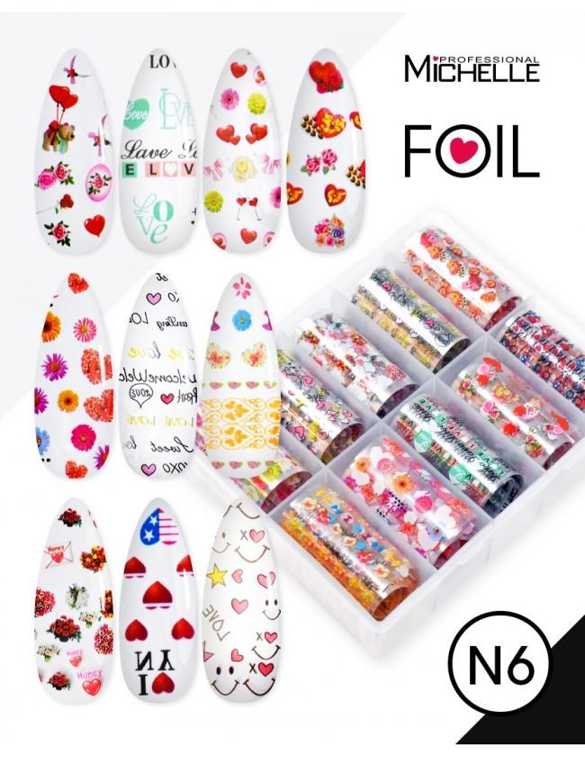 Nail art e decorazioni per unghie: Transfer Foil N6 Love FOIL- DECORAZIONI- FILI