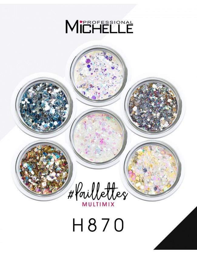 Nail art e decorazioni per unghie: PAILLETTES MULTIMIX 6 COLORI - H870 GLITTER E PAILLETTES