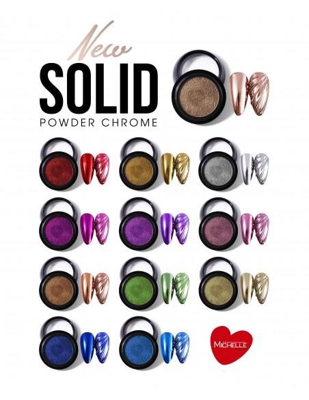 Nail art e decorazioni per unghie: POLVERE SOLID CHROME ROSSO GT008 POLVERI - PIGMENTI