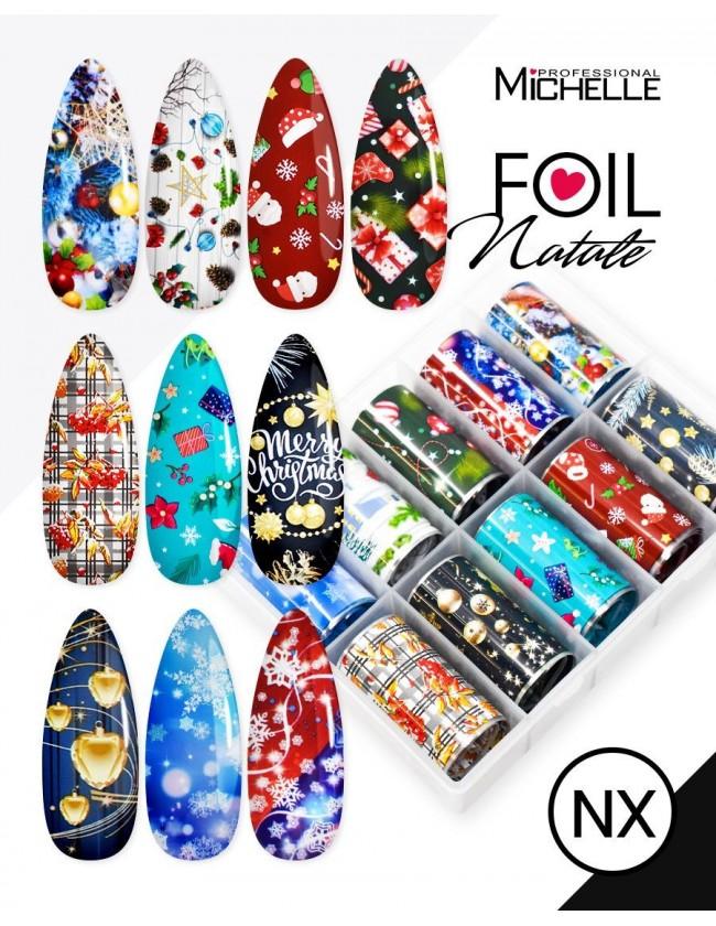 Nail art e decorazioni per unghie: Transfer Foil Natale NX FOIL- DECORAZIONI- FILI