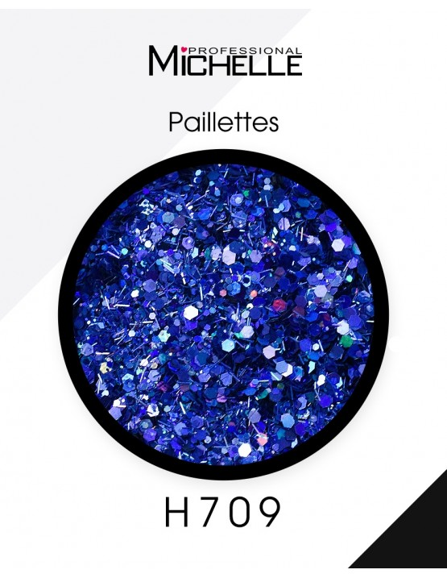 Nail art e decorazioni per unghie: Paillettes Blue Mix - H709 GLITTER E PAILLETTES