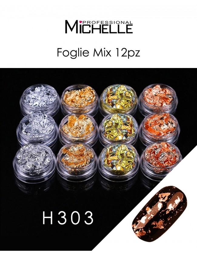 Nail art e decorazioni per unghie: DECORAZIONE FOIL MIX H303 FOIL- DECORAZIONI- FILI