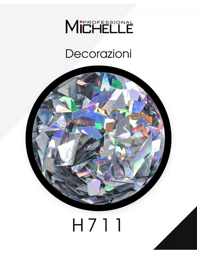 Nail art e decorazioni per unghie: Paillettes Decorazioni Rainbow Silver - H711 GLITTER E PAILLETTES