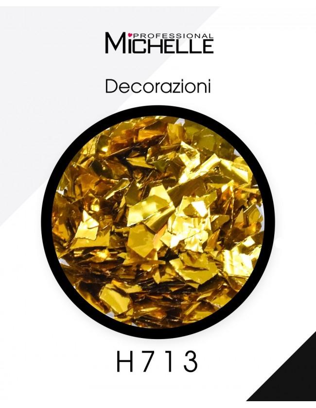 Nail art e decorazioni per unghie: Paillettes Decorazioni Gold - H713 GLITTER E PAILLETTES