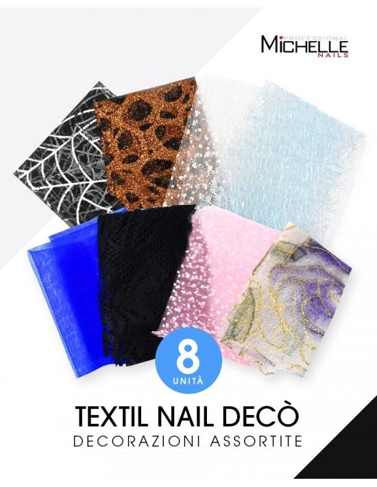 Nail art e decorazioni per unghie: TEXTIL NAIL DECO' per aerografo - 8pz assortiti NAIL-ART/ Decorazioni