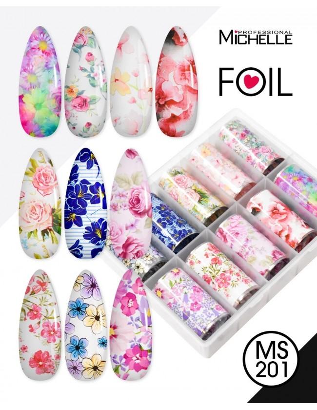 Nail art e decorazioni per unghie: Transfer Foil MS201 FOIL- DECORAZIONI- FILI