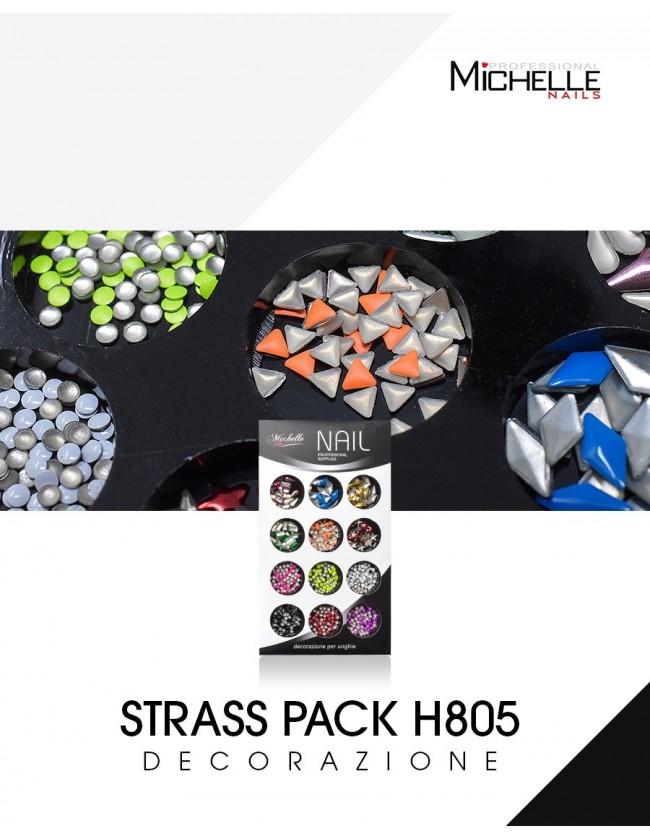 Nail art e decorazioni per unghie: DECORAZIONE STRASS PACK H805 BRILLANTINI E STRASS
