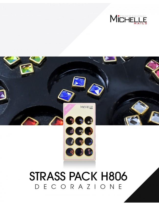 Nail art e decorazioni per unghie: DECORAZIONE STRASS PACK H806 BRILLANTINI E STRASS