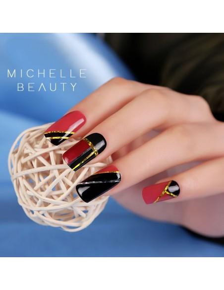 Nail art e decorazioni per unghie: ADESIVI LINEE STICKERS ST196 nero black FOIL- DECORAZIONI- FILI