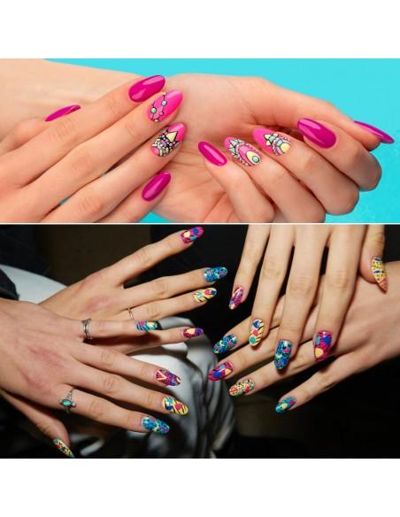 decorazione nail-art gel per unghie TOP COLOR PAINT GEL - 35 NERO di Michellenails ricostruzione