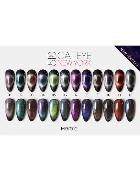 smalto semipermanente colore per unghie Michellenails NUOVI CAT EYE 5D - 10