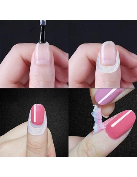 ricostruzione in gel per unghie Peel Off GEL Liquid - bianco 10ML uso professionale
