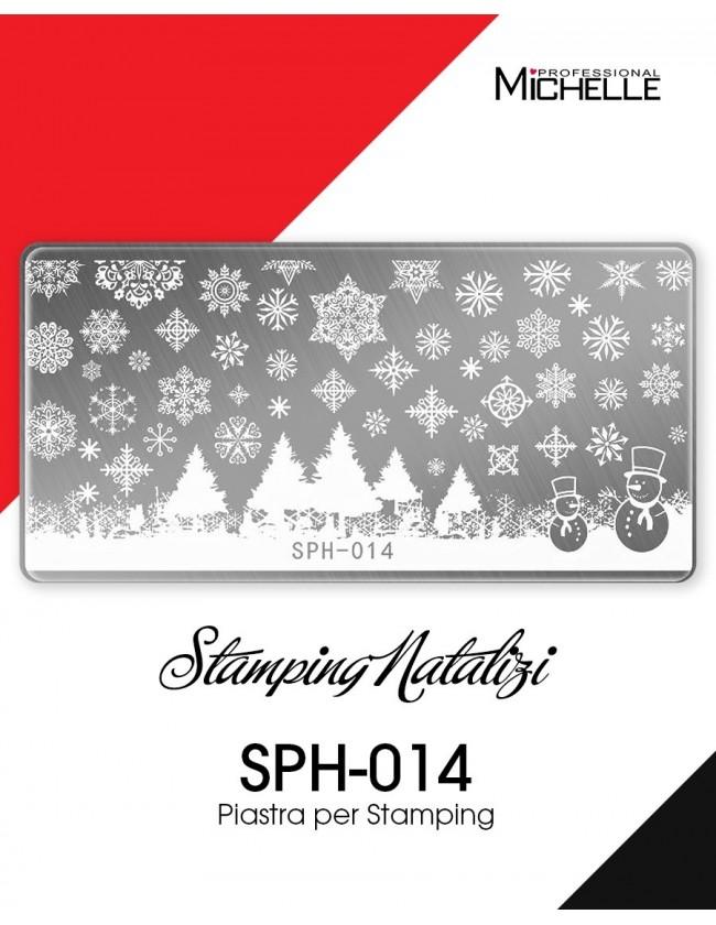 Nail art e decorazioni per unghie: PIASTRA STAMPING NATALE SPH-014 STAMPING