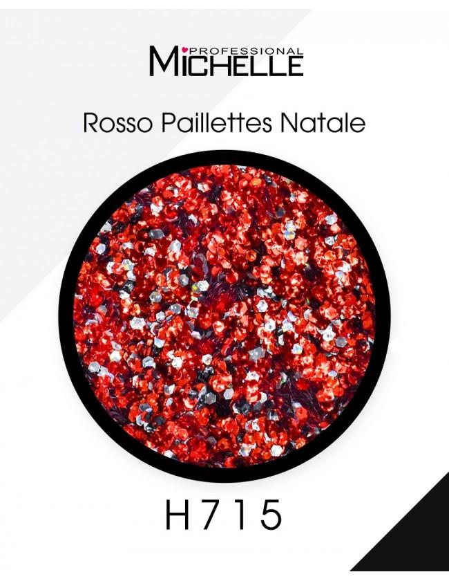 Nail art e decorazioni per unghie: Paillettes Rosso Natale - H715 GLITTER E PAILLETTES