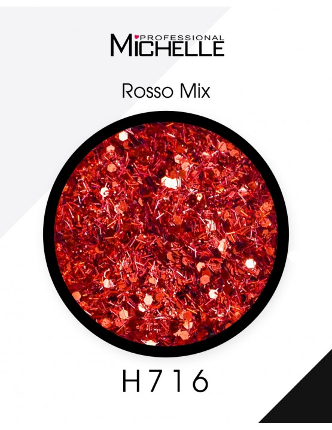 Nail art e decorazioni per unghie: Paillettes Rosso Mix - H716 GLITTER E PAILLETTES