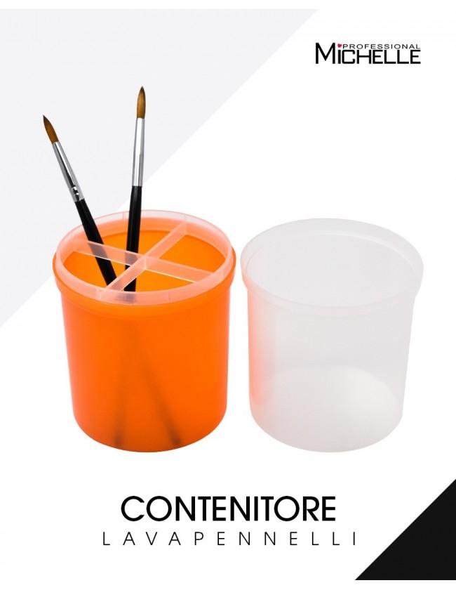 Accessori per unghie Contenitore lavapennelli ad immersione grande Arancio Uso professionale nails