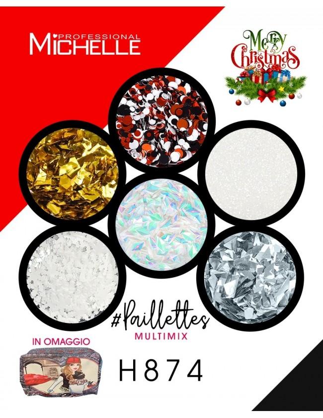 Nail art e decorazioni per unghie: PAILLETTES MULTIMIX 6 NATALE - H874 GLITTER E PAILLETTES