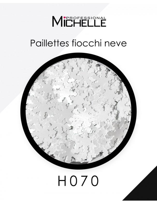 Nail art e decorazioni per unghie: Paillettes fiocchi Neve bianchi H070 GLITTER E PAILLETTES