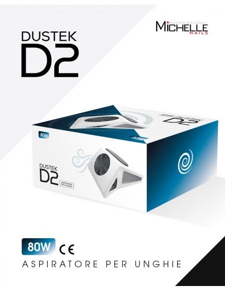 apparecchiatura uso professionale per unghie,  Aspiratore Dustek D2 da tavolo con poggiamani 80W