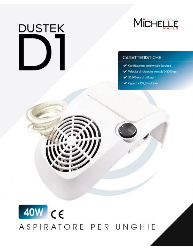 apparecchiatura uso professionale per unghie,  Aspiratore Dustek D1 da tavolo con poggiamani 40W