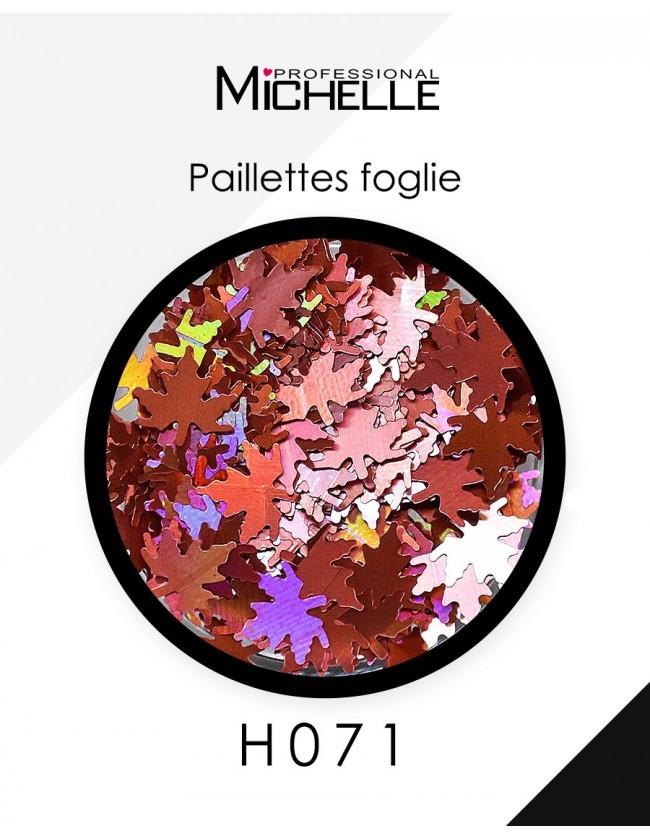Nail art e decorazioni per unghie: Paillettes foglie rame H071 GLITTER E PAILLETTES