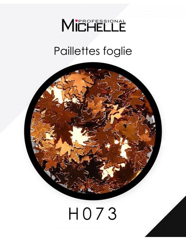 Nail art e decorazioni per unghie: Paillettes foglie bronzo H073 GLITTER E PAILLETTES