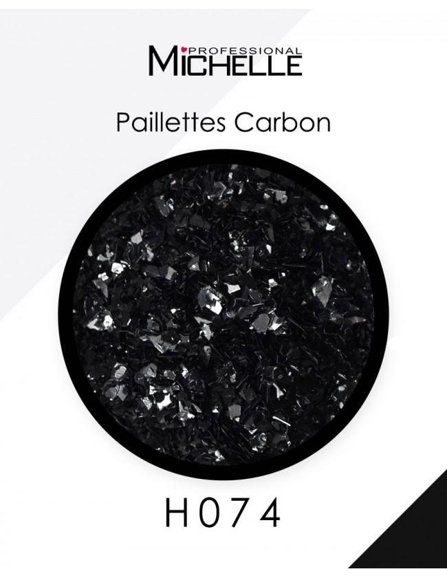 Nail art e decorazioni per unghie: Paillettes black carbon H074 GLITTER E PAILLETTES