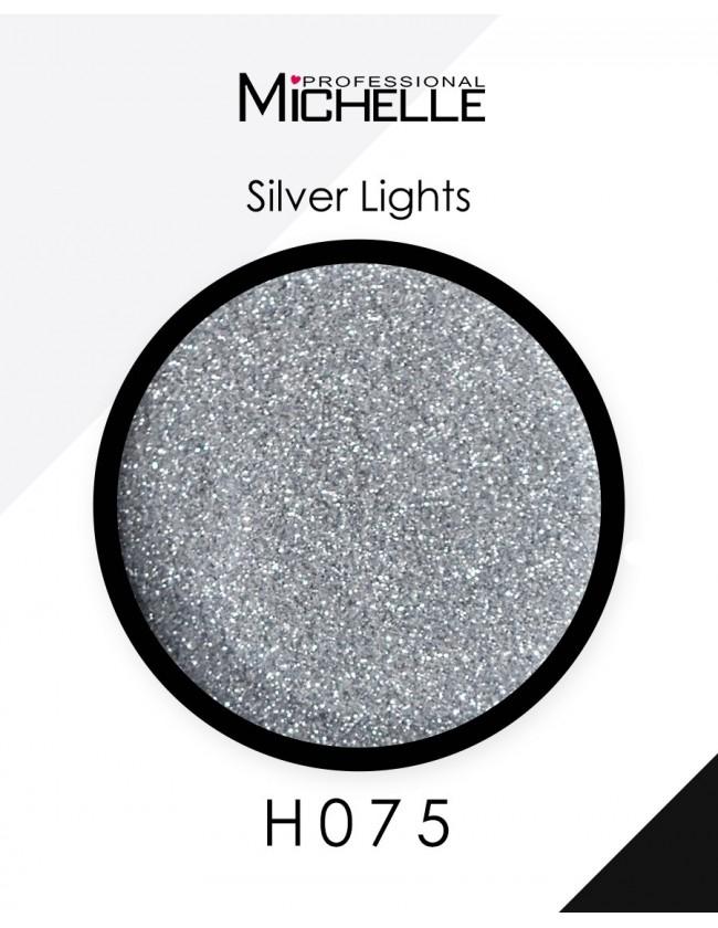 Nail art e decorazioni per unghie: Glitter Silver Lights H075 GLITTER E PAILLETTES