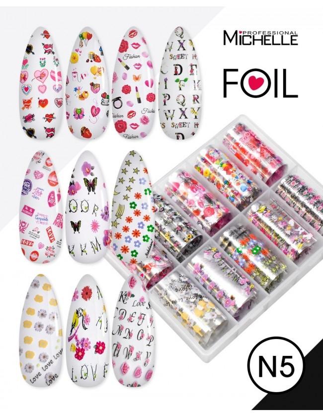 Nail art e decorazioni per unghie: Transfer Foil N5 Love FOIL- DECORAZIONI- FILI