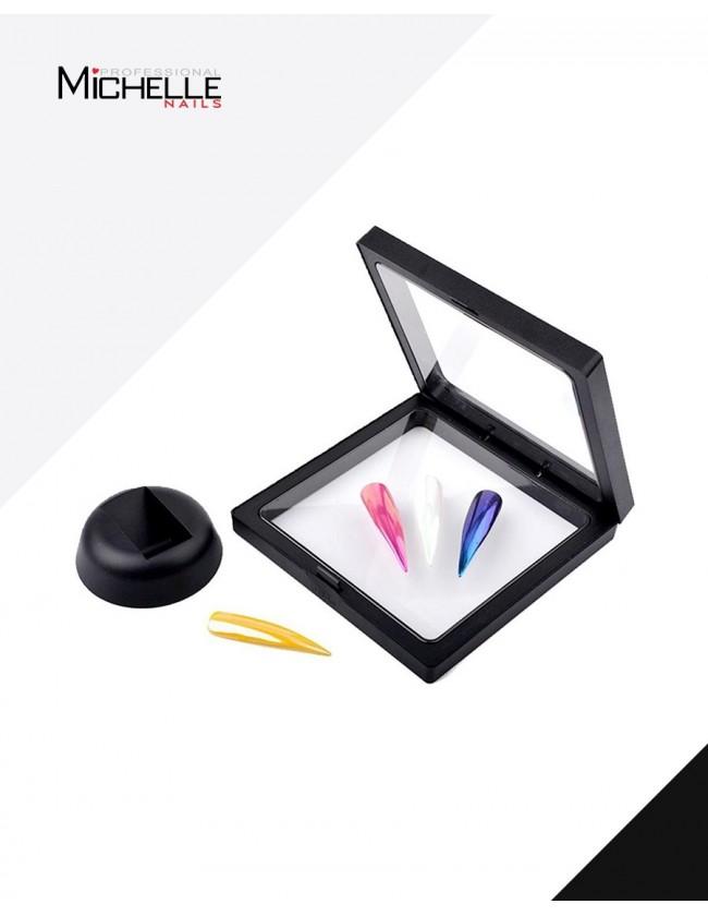 Accessori per unghie Espositore Wonder Tips verticale nero Uso professionale nails