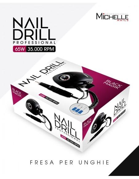 apparecchiatura uso professionale per unghie,  BLACK MAGIK FRESA PROFESSIONALE 35000 GIRI - ALTA QUALITA