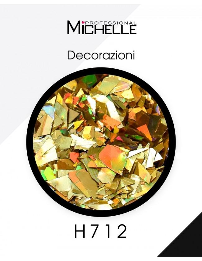 Nail art e decorazioni per unghie: Paillettes Decorazioni Rainbow Gold - H712 GLITTER E PAILLETTES