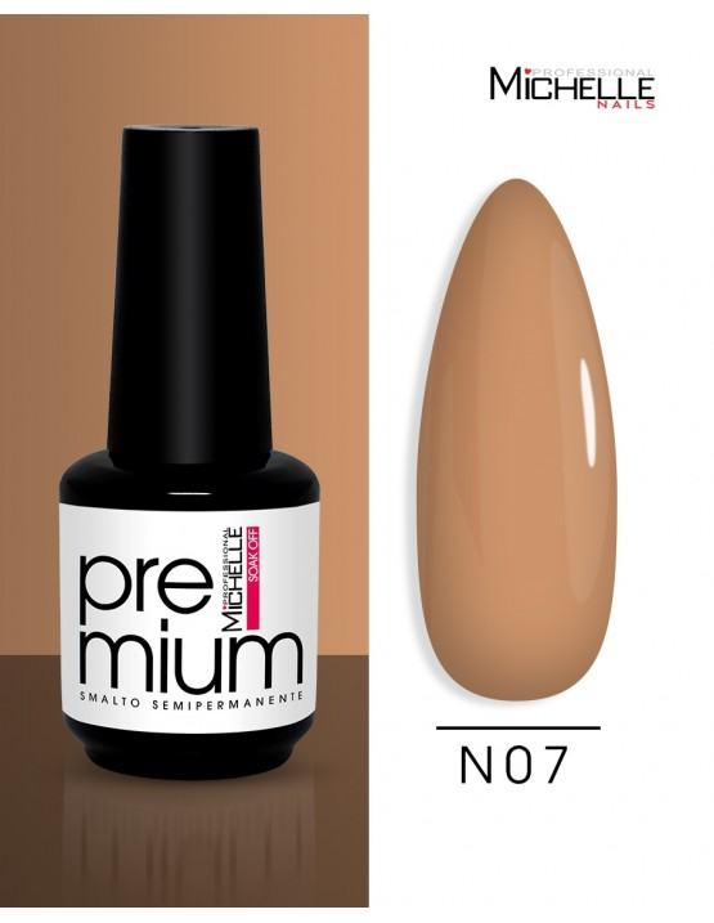 smalto semipermanente colore per unghie Michellenails Premium Smalto Semipermanente N07 - 15ml
