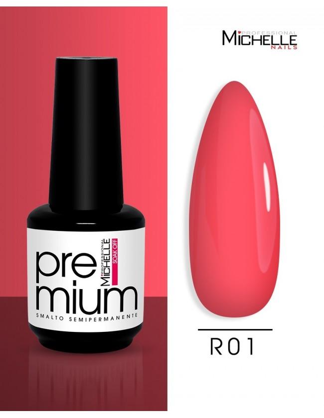 smalto semipermanente colore per unghie Michellenails Premium Smalto Semipermanente R01 - 15ml