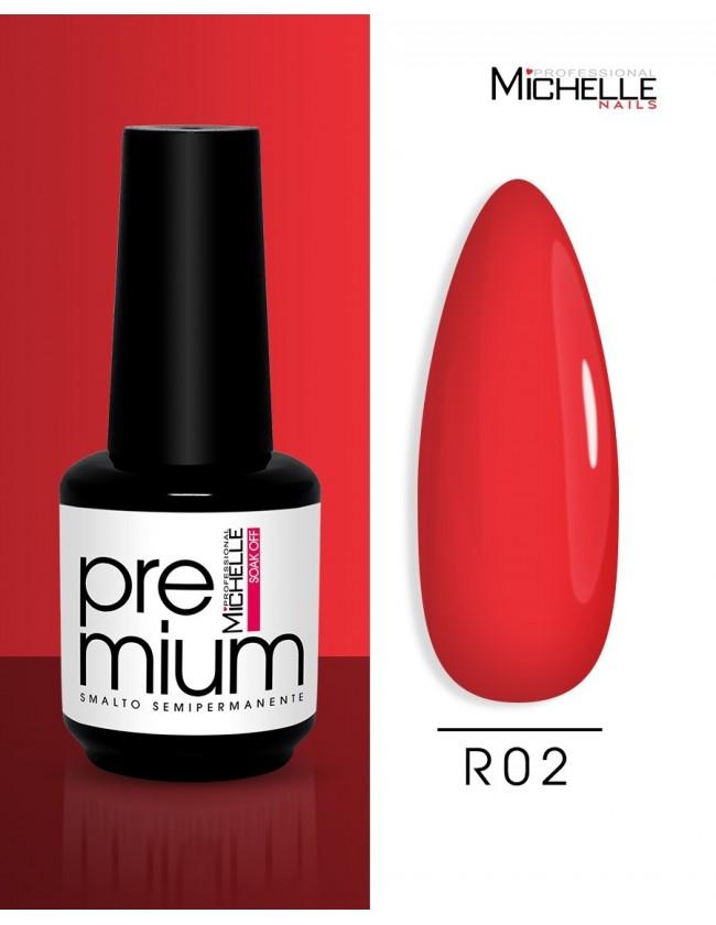 smalto semipermanente colore per unghie Michellenails Premium Smalto Semipermanente R02 - 15ml