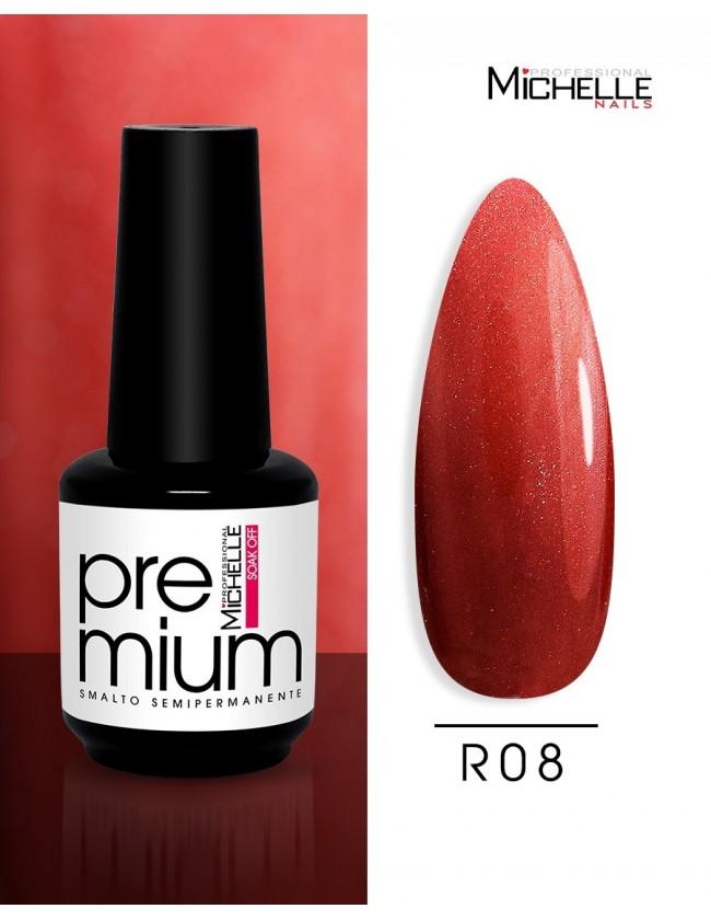 smalto semipermanente colore per unghie Michellenails Premium Smalto Semipermanente R08 - 15ml
