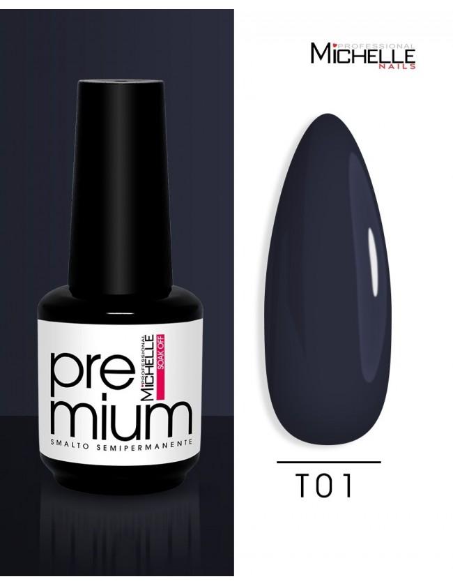 smalto semipermanente colore per unghie Michellenails Premium Smalto Semipermanente T01 - 15ml