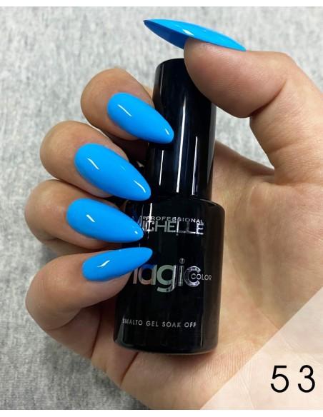 smalto semipermanente colore per unghie Michellenails MAGIC Color Semipermanente - 053 azzurro