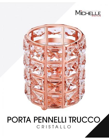 Accessori per unghie PORTA PENNELLI DA TRUCCO IN CRISTALLO - ROSE GOLD Uso professionale nails