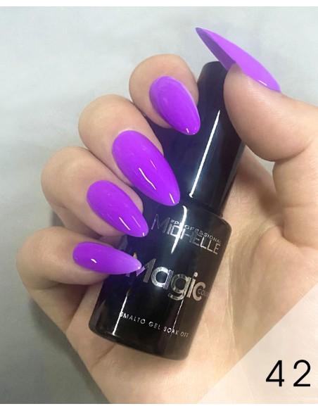 smalto semipermanente colore per unghie Michellenails MAGIC Color Semipermanente - 042 viola chiaro