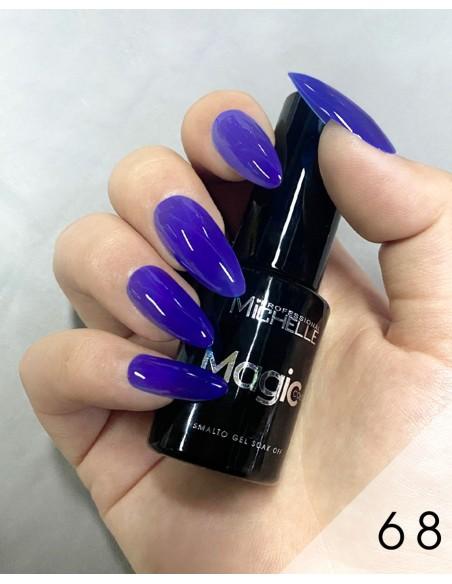smalto semipermanente colore per unghie Michellenails MAGIC Color Semipermanente - 068 blu elettrico