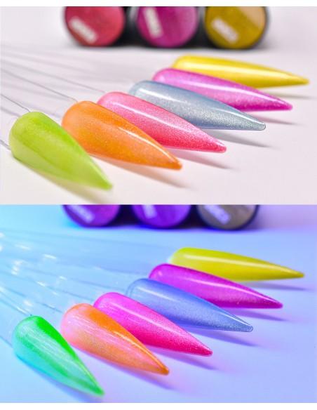 smalto semipermanente colore per unghie Michellenails NUOVI CAT EYE 5D FLUO - 39 Sky