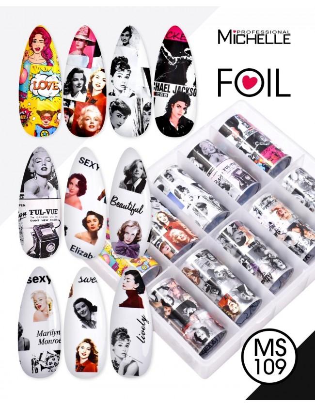 Nail art e decorazioni per unghie: Transfer Foil MS109 FOIL- DECORAZIONI- FILI