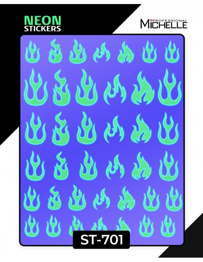 Nail art e decorazioni per unghie: ADESIVI STICKERS FLUO - ST701 ADESIVI STICKERS
