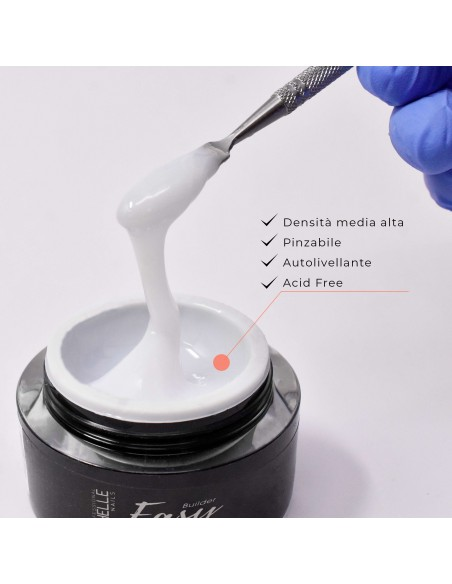 ricostruzione in gel per unghie EASY BUILDER - ICE WHITE LATTE 50ml uso professionale