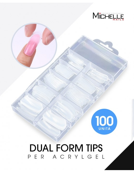 Accessori per unghie ACRYGEL DUAL TIPS (DUAL SYSTEM FORMS) – 100PZ Uso professionale nails