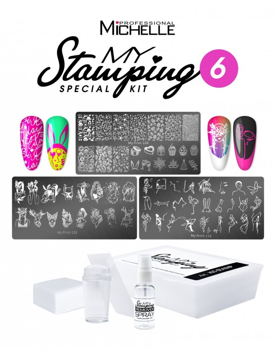 Nail art e decorazioni per unghie: KIT MY STAMPING - PARTY 6 STAMPING