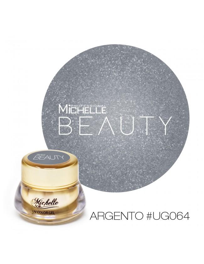 GOLD COLOR UV GEL - ARGENTO GLITTER...