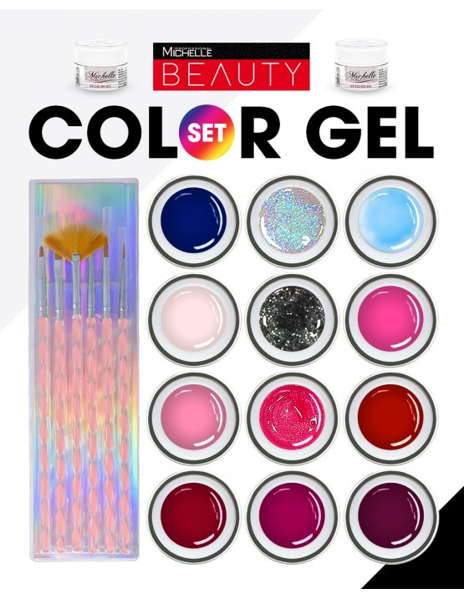 Set 12 Color Gel assortiti Linea...