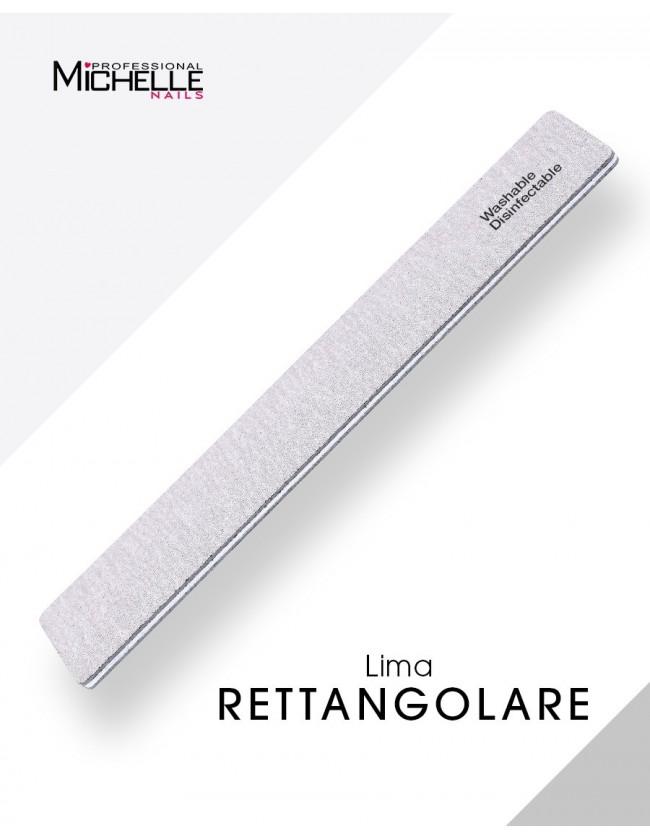 Accessori per unghie LIMA ALTA ABRASIVITÀ RETTANGOLARE- Lavabile - Double Face  Uso professionale nails